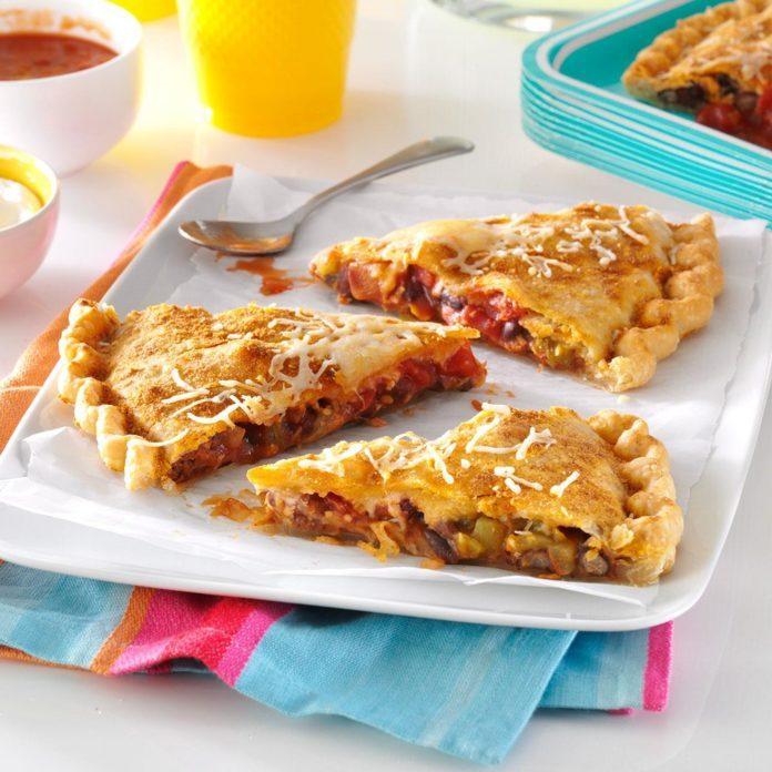 Bean & Salsa Stuffed Pizza