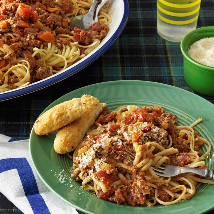 Day 18: Beef Bolognese with Linguine