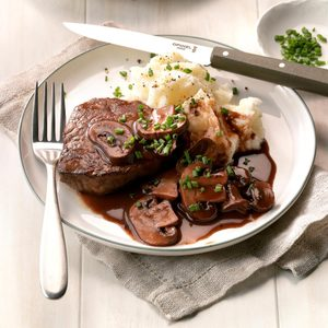Beef Filets with Portobello Sauce