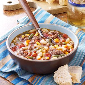 Beef Macaroni Soup