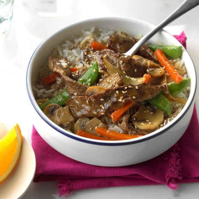 Inspired by: Chinese takeout Orange Beef