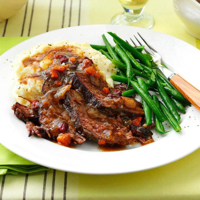 Beef Roast with Cranberry Gravy
