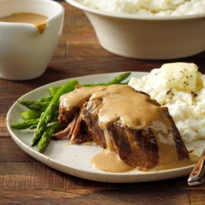 Beef in Mushroom Gravy