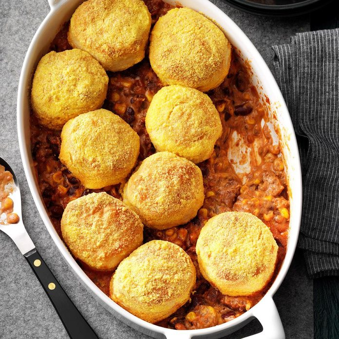 Day 20: Beef 'n' Biscuit Bake
