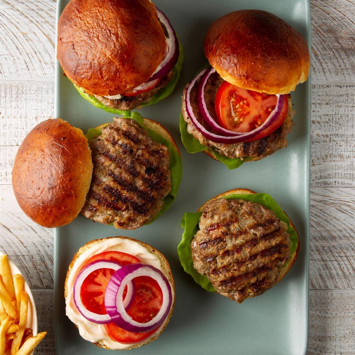 Beef 'n' Pork Burgers