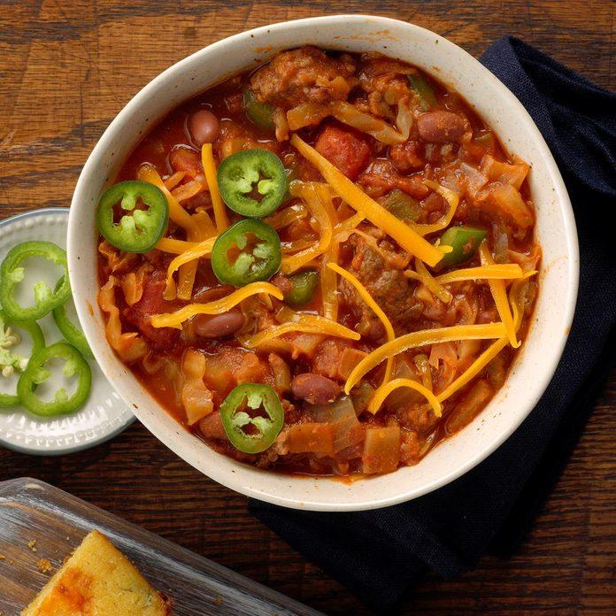 Beefy Cabbage Bean Stew