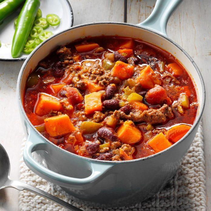Beefy Sweet Potato Chili