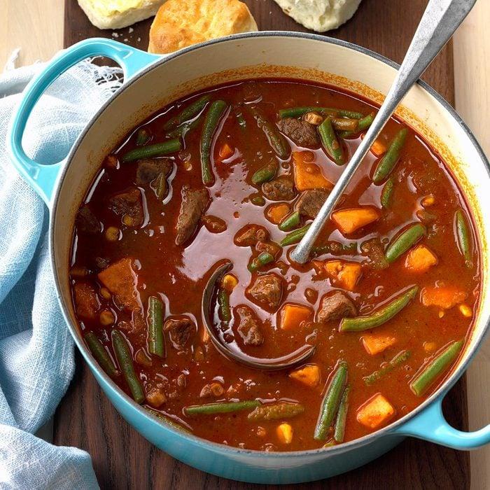 Beefy Sweet Potato Soup