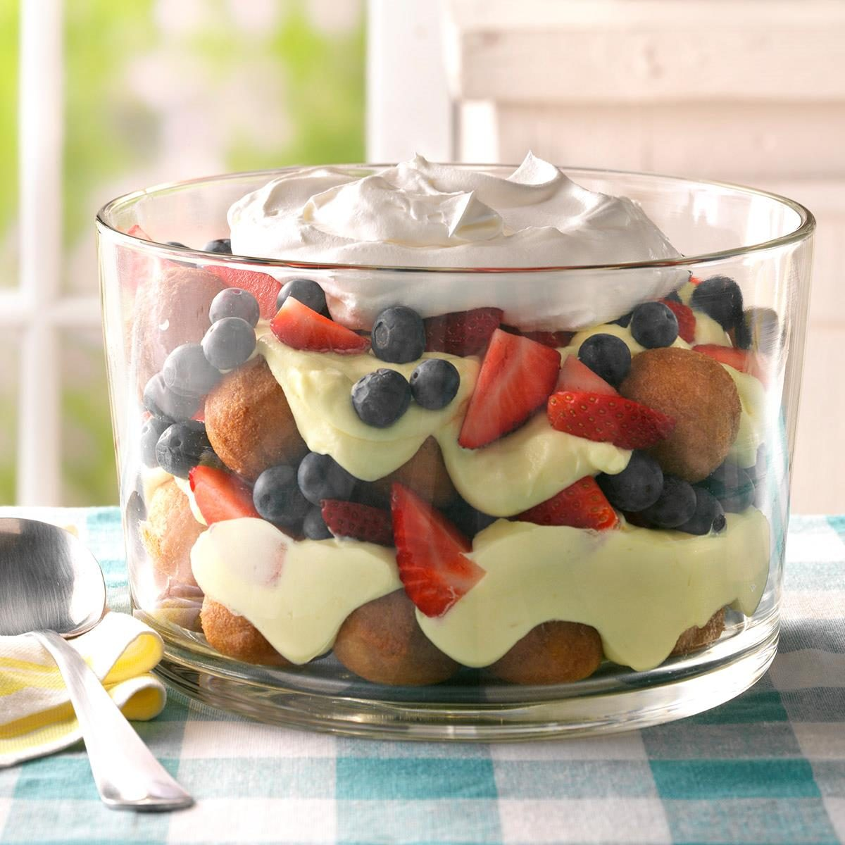 Berry, Lemon and Doughnut Hole Trifle