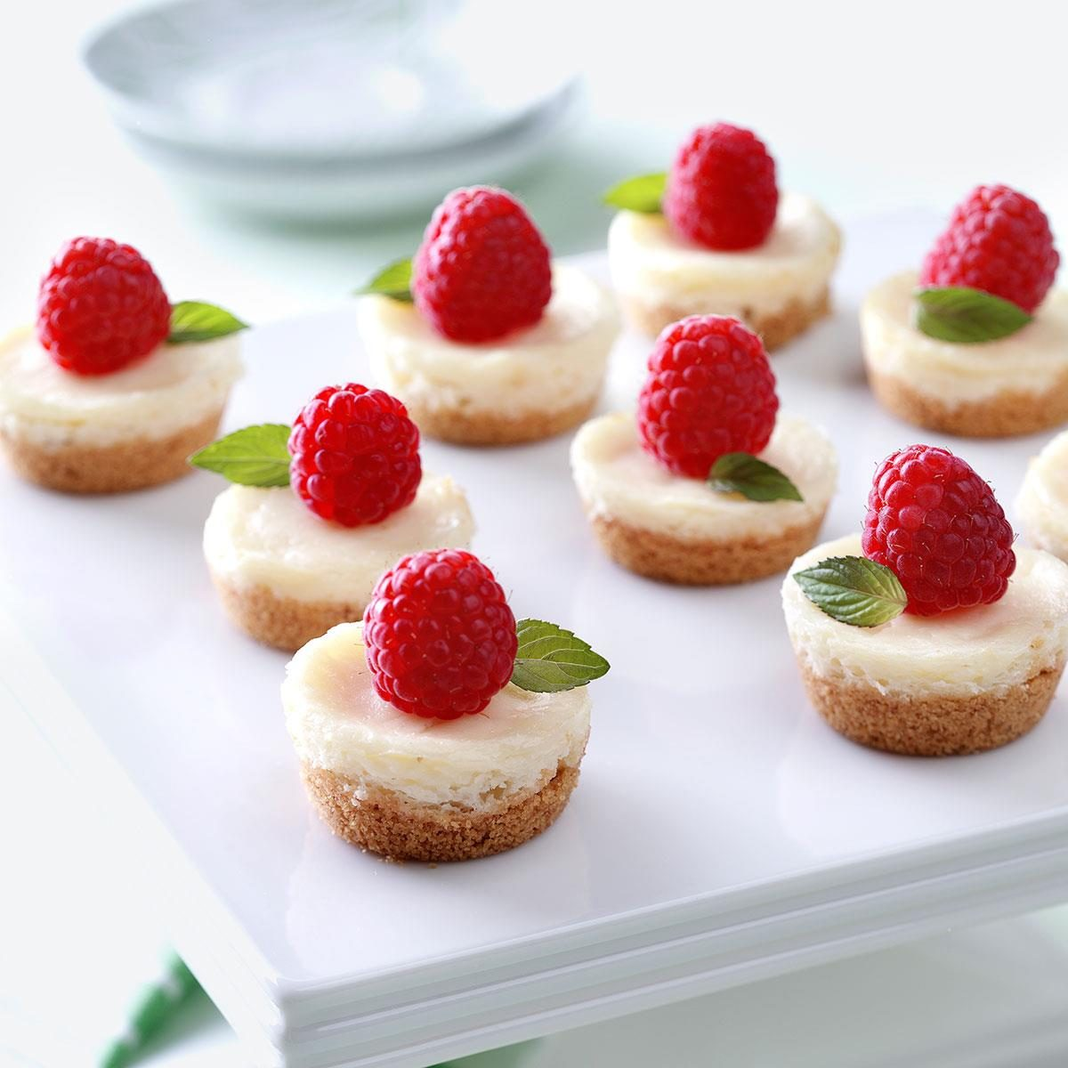 Small Desserts For Weddings: Berry Mini Cheesecakes Recipe