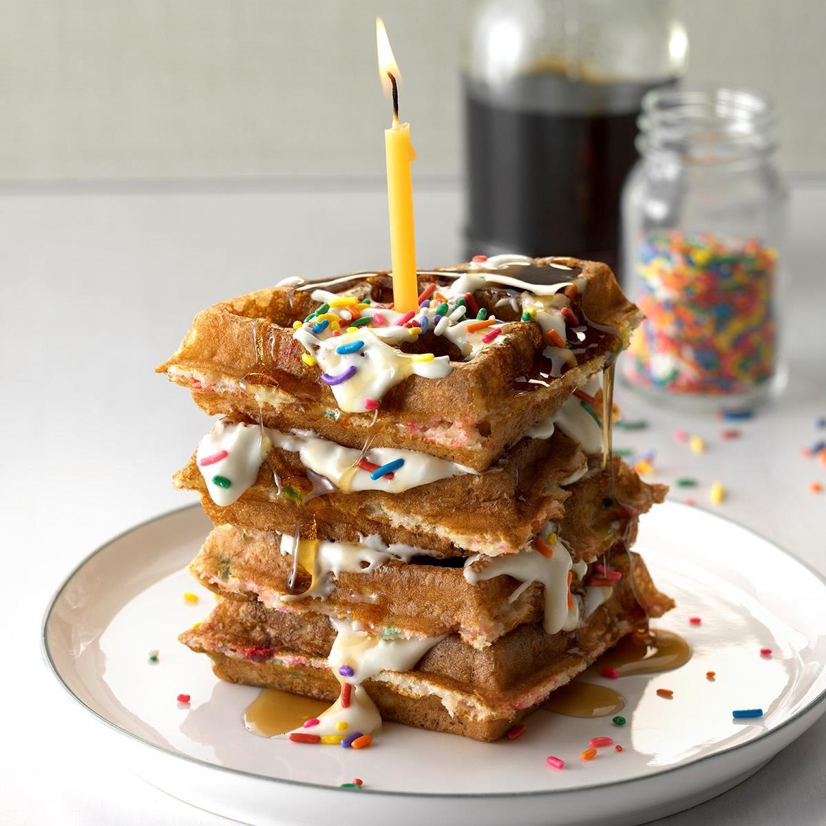 Birthday Cake Waffles