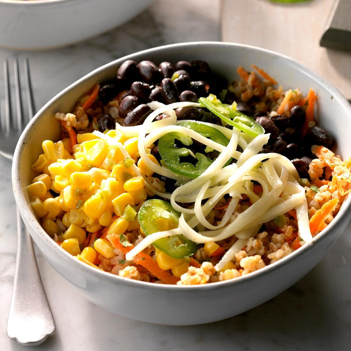 Black Bean Bulgur Salad
