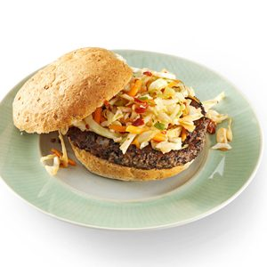 Black Bean Burgers with Chipotle Slaw