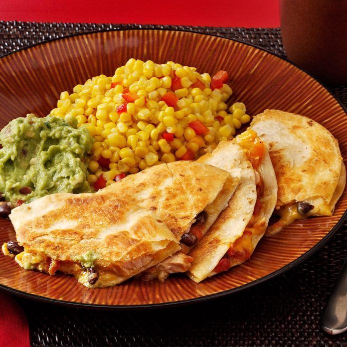Black Bean-Chicken Quesadillas