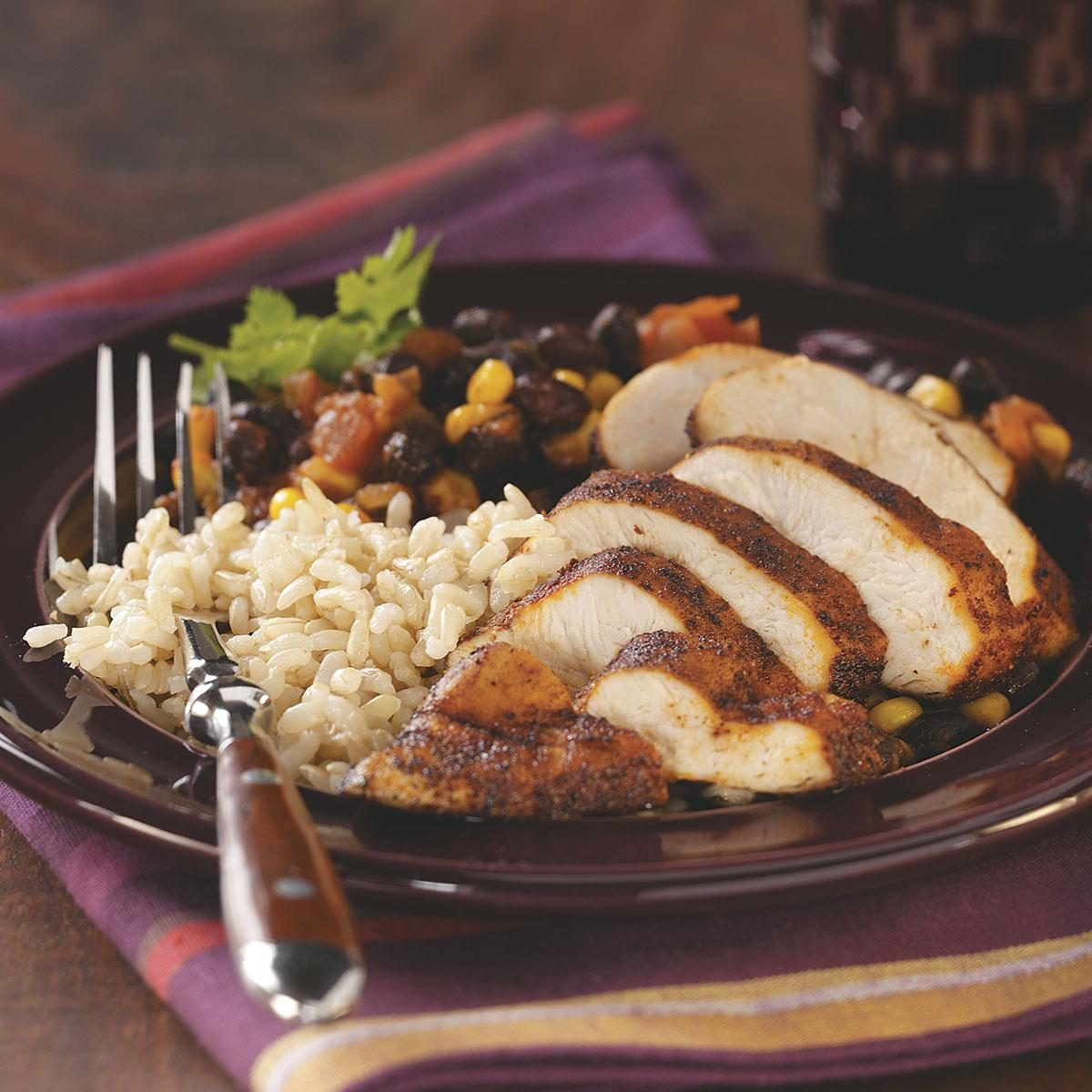 Black Bean Chicken with Rice for Two