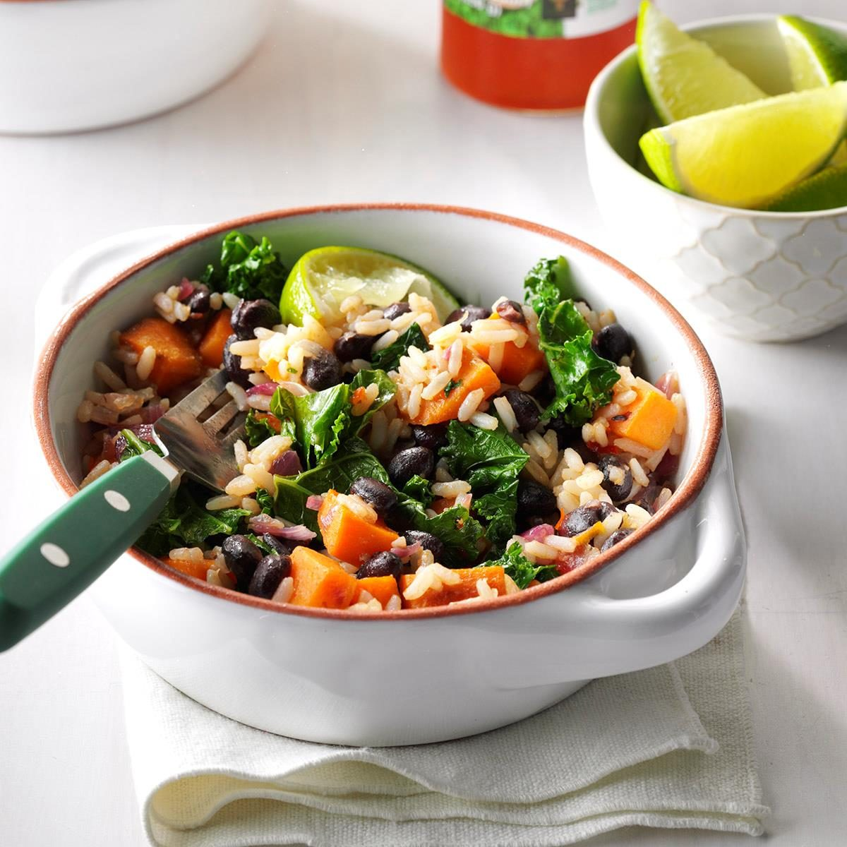 Black Bean & Sweet Potato Rice Bowls