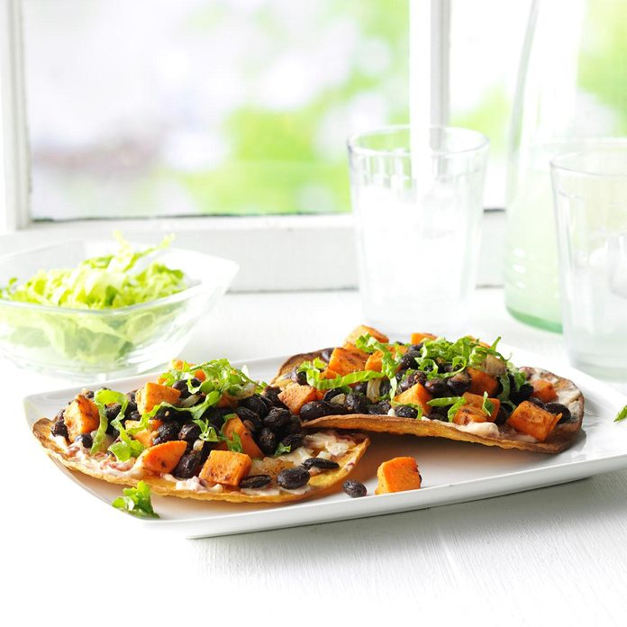 Black Bean & Sweet Potato Tostadas