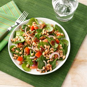 Black-Eyed Pea Spinach Salad