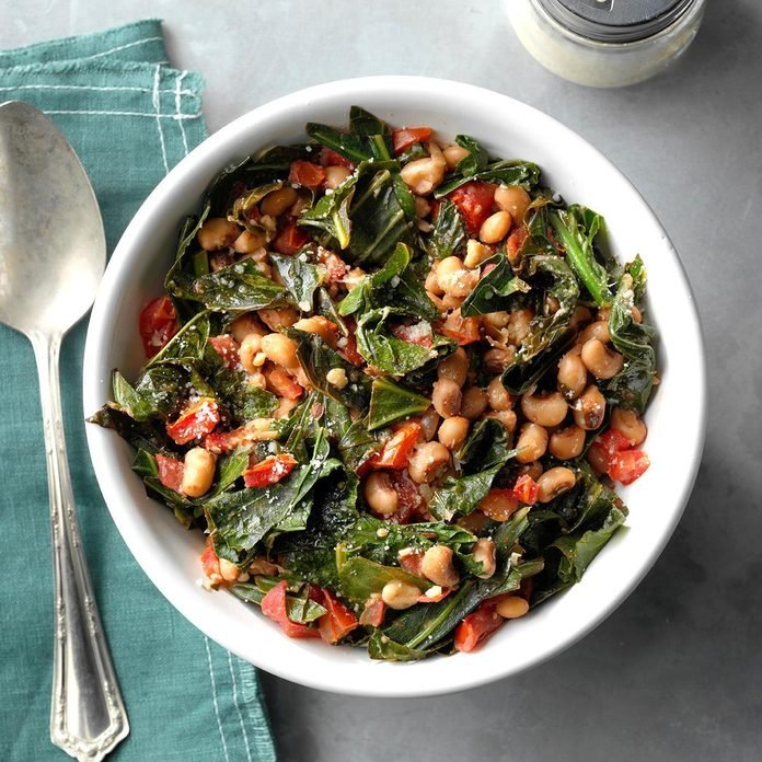 Black-Eyed Peas with Collard Greens