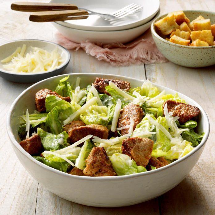 Day 23: Blackened Pork Caesar Salad