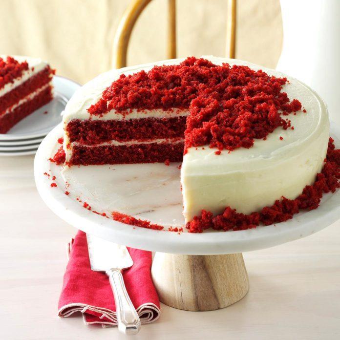 Day 7: Blue Ribbon Red Velvet Cake