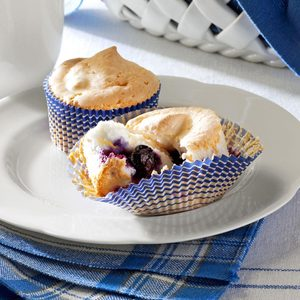 Blueberry Angel Cupcakes