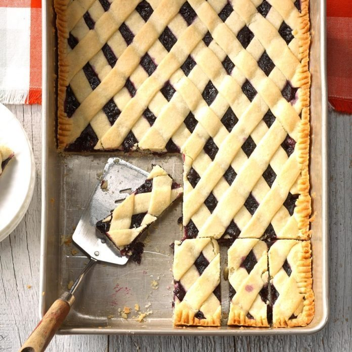 Maine:  Blueberry Lattice Bars