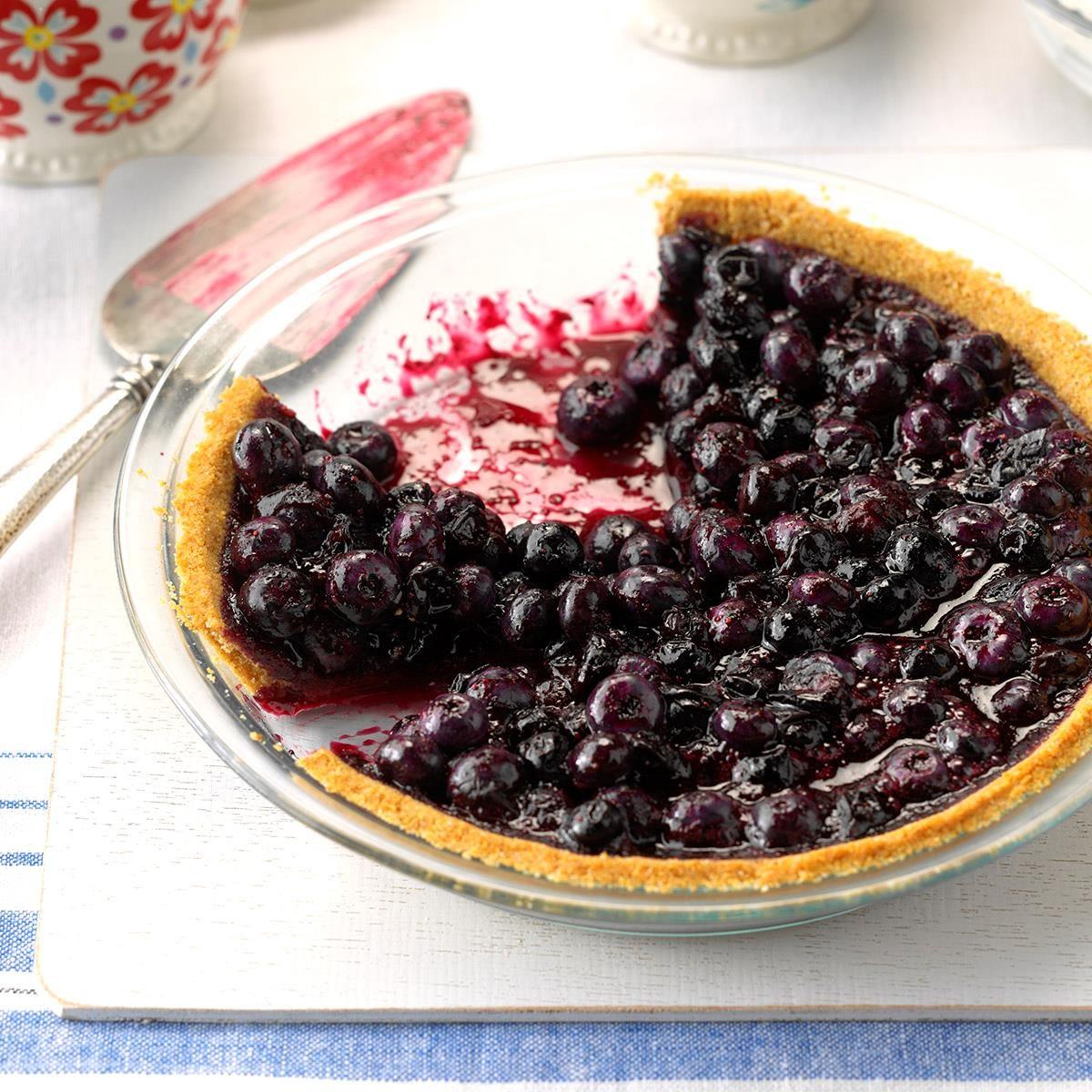 Blueberry Pie with Graham Cracker Crust
