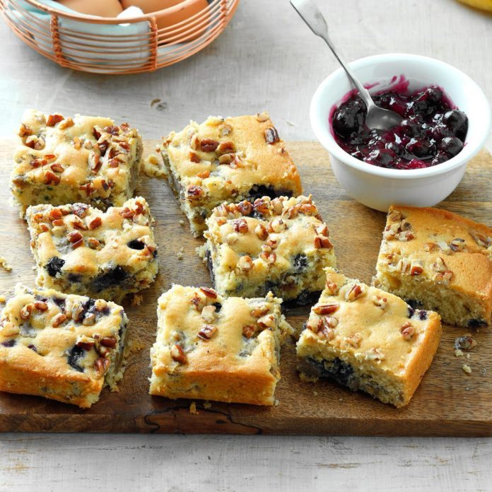 Blueberry-Sausage Breakfast Cake