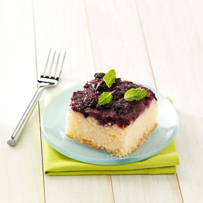 Rhode Island: Blueberry Upside-Down Cake