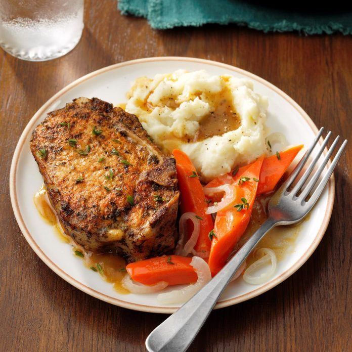 Braised Herb Pork Chops