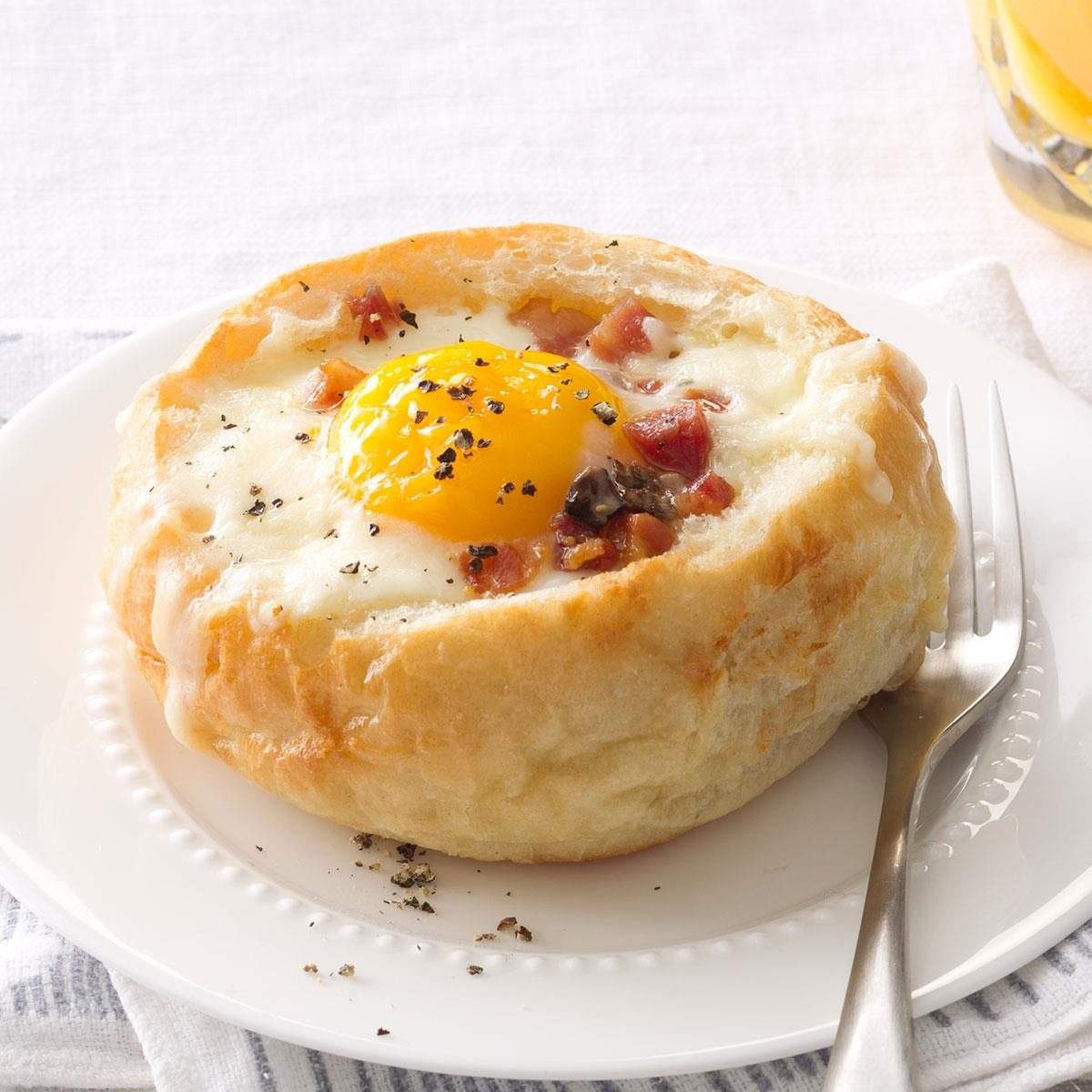 Breakfast Bread Bowls