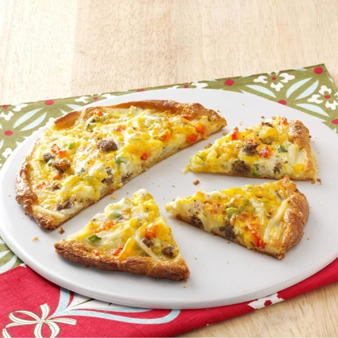 Breakfast Pizza for Two