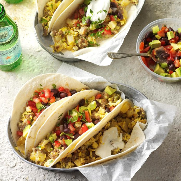 Breakfast Tacos Recipe How To Make It Taste Of Home