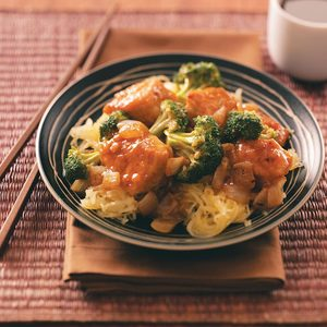 Broccoli Chicken Stir-Fry for Two