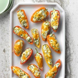 Broccoli & Chive Stuffed Mini Peppers