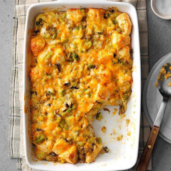 Virginia: Broccoli-Mushroom Bubble Bake