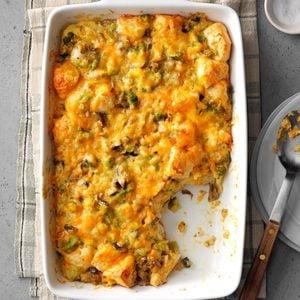 Broccoli-Mushroom Bubble Bake