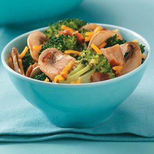 Broccoli Mushroom Salad