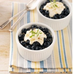 Broiled Blueberry Dessert