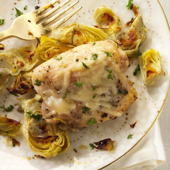 Broiled Chicken Artichokes