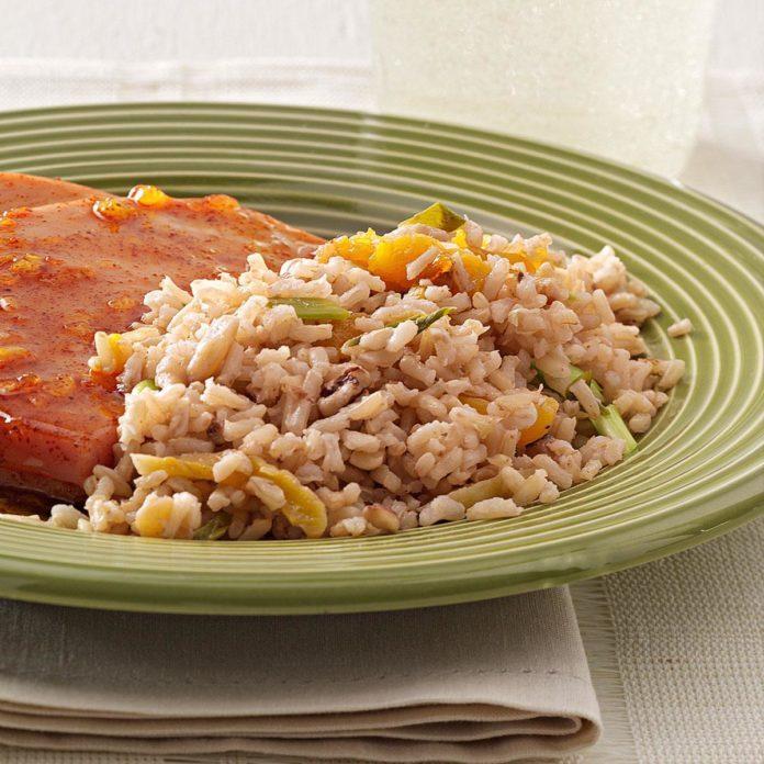 Brown Rice Pilaf Dish