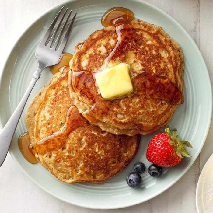 Brown Sugar Oatmeal Pancakes