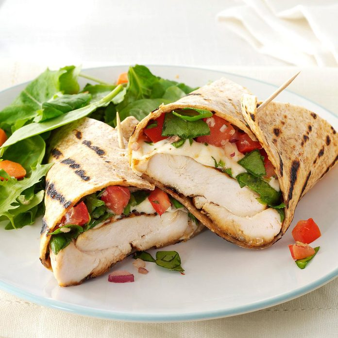 Inspired by: Fire Roasted Chicken Salad Wrap