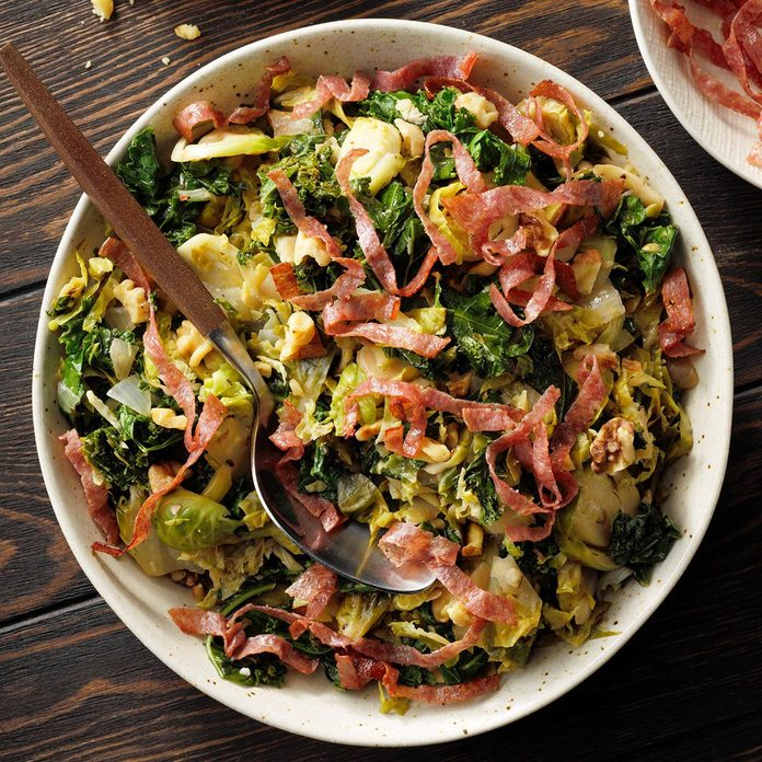Salads: Brussels Sprouts & Kale Saute