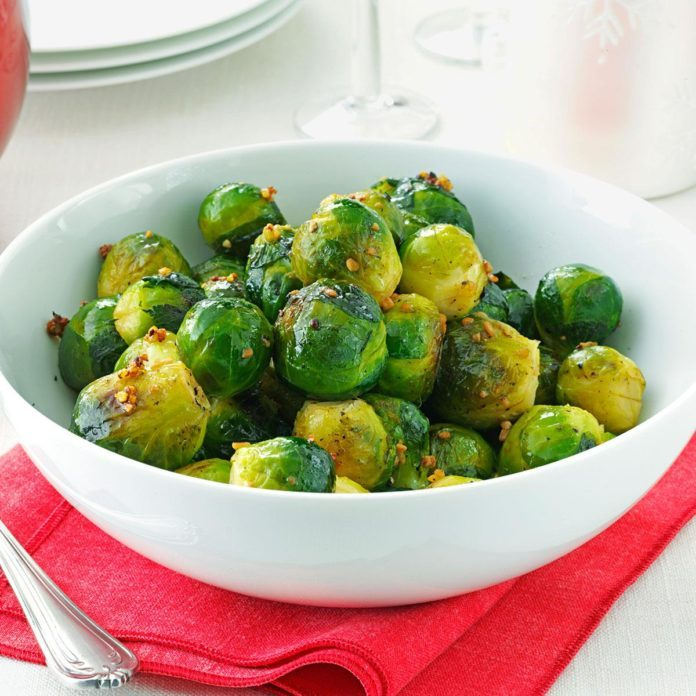 Brussels Sprouts With Garlic Recipe Taste Of Home