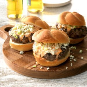 Buffalo Beef Burgers