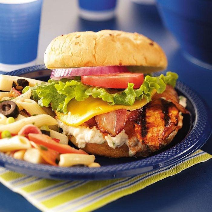 Buffalo Chicken Sandwiches with Bacon