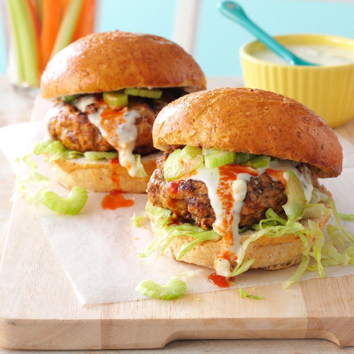 Buffalo Turkey Burgers Recipe How To Make It Taste Of Home