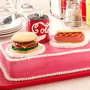 Burger 'n' Hot Dog Cake